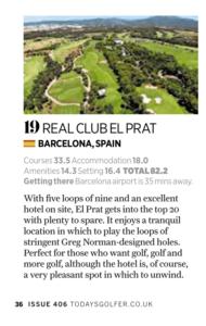 #19 golf resort in Europe